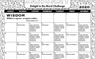 January 2020 Delight in the Word Challenge – Wisdom