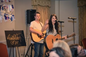 Maci and her brother - leading us in worship into the very throne room of heaven! So incredible!!!