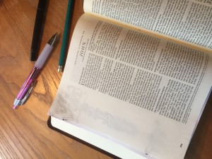 Bible art journaling - Jesus is the Word - step 2