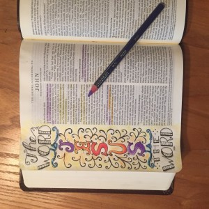 The Word is Jesus - Bible Art Journaling page by JoDitt