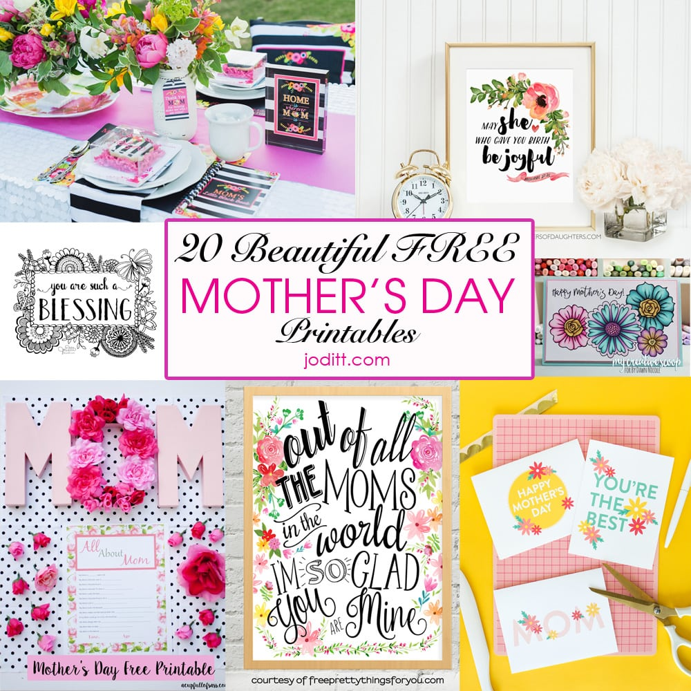 20 Beautiful Free Mother's Day Printables