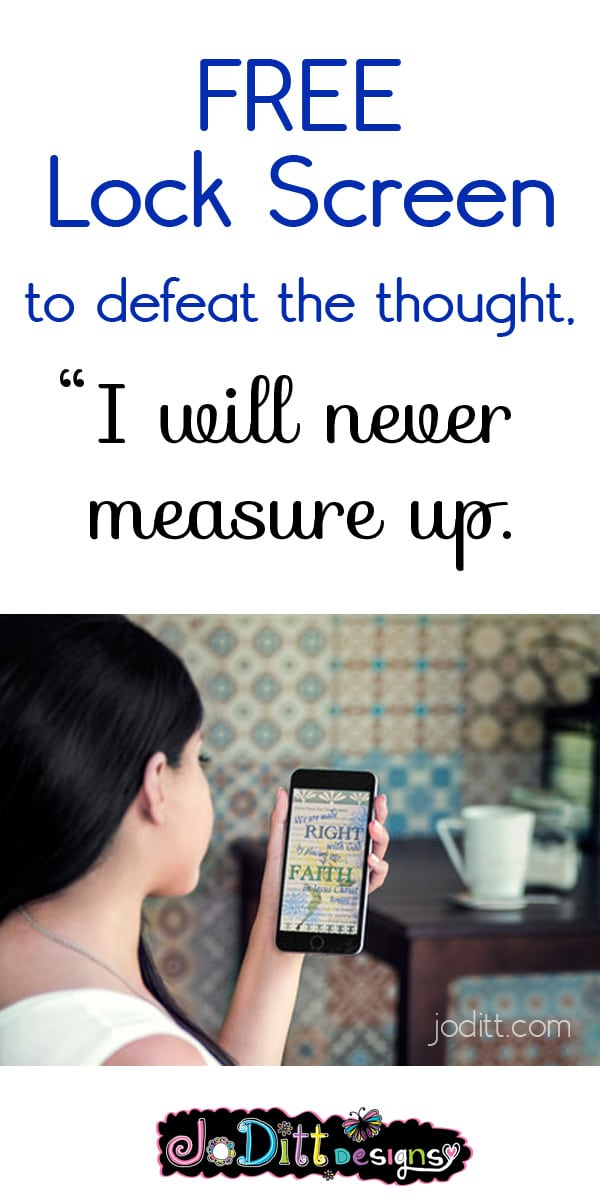 I will never measure up + free lock screen