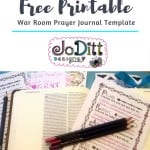 War Room Prayer Journal Template 1 by JoDitt