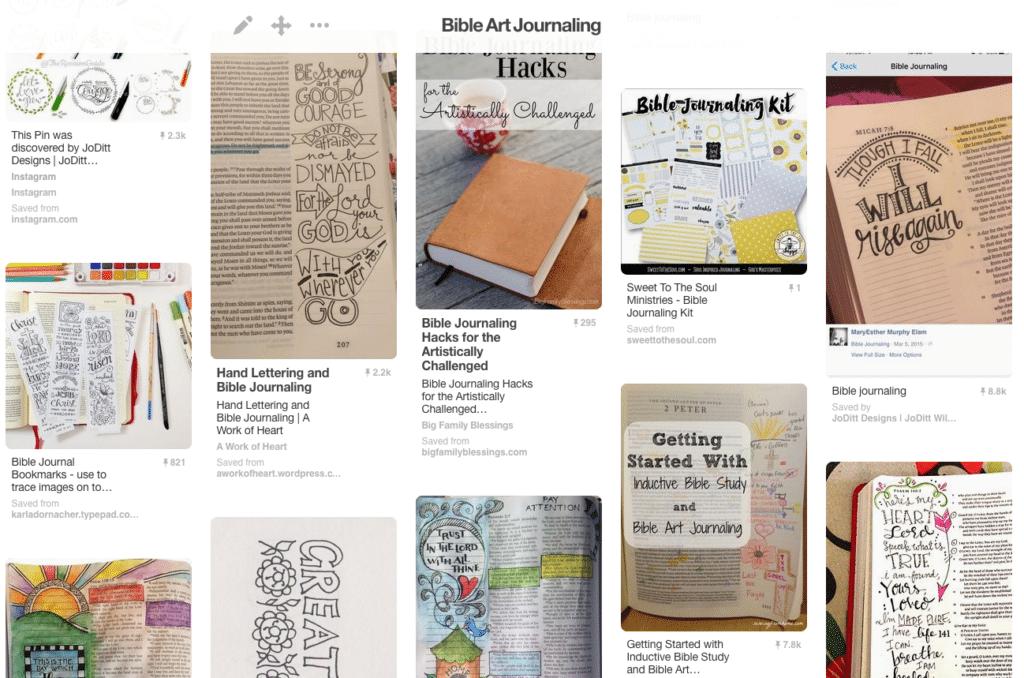 Bible Art Journaling Pinterest board