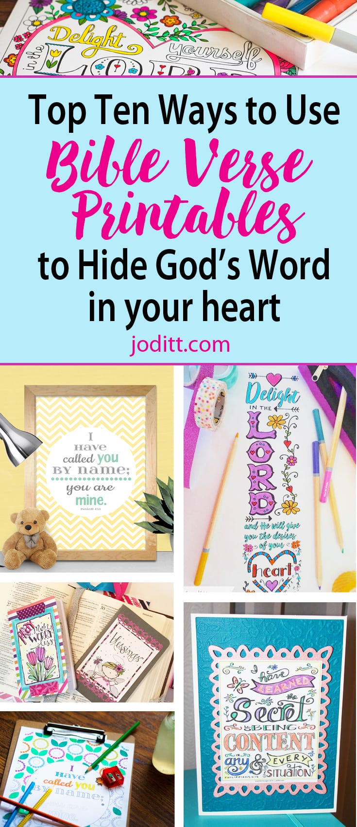 10 Ways to Hide God\'s Word in Your Heart Using Pretty Printables ...