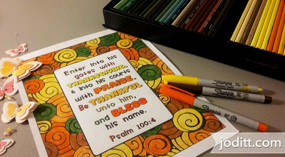 Delight in The Word coloring book by joditt.com
