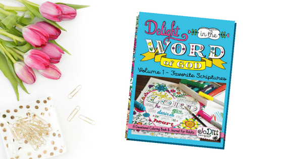 Delight in the Word coloring book by JoDitt Designs