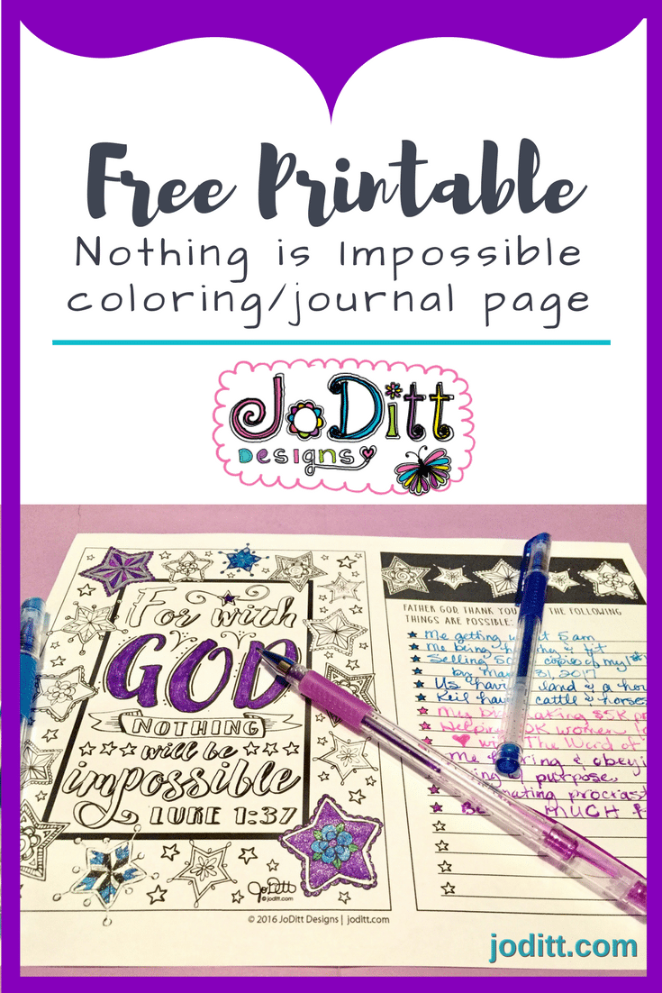 free printable coloring page - nothing is impossible
