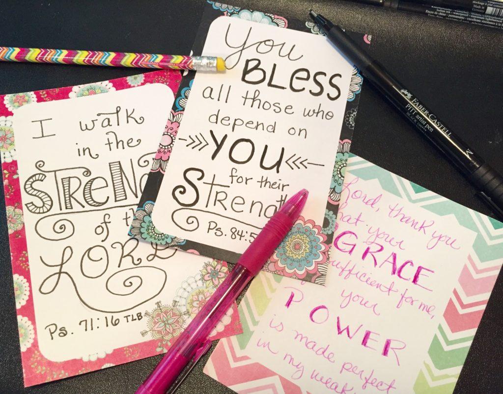 Scripture cards by JoDitt