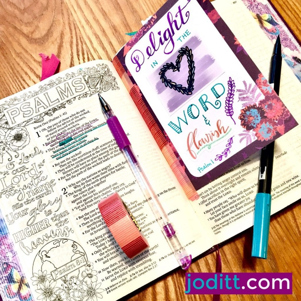 Delight in the Word of God Journal Card