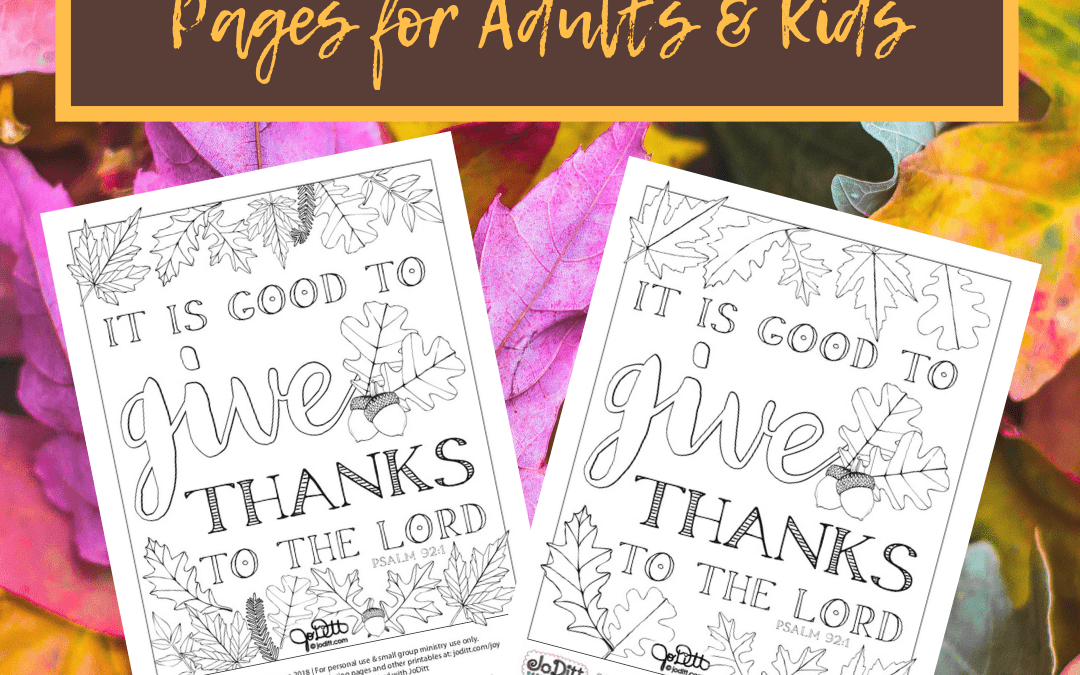 Free Thanksgiving Coloring Pages for Adults and Kids
