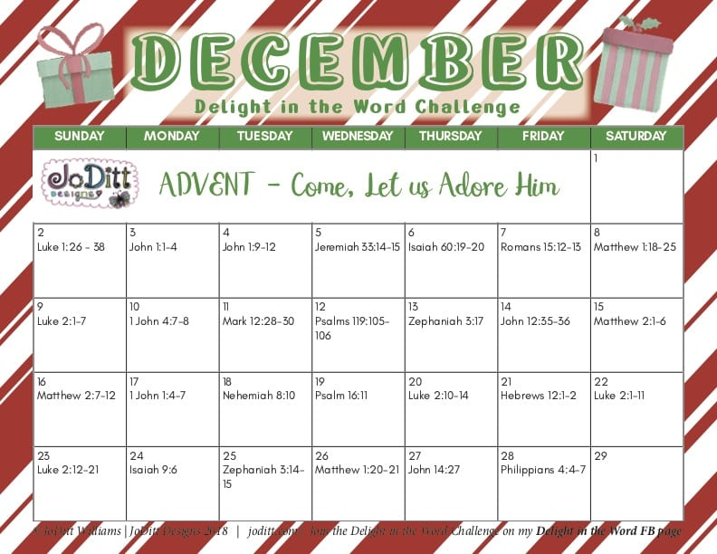 Advent Reading Plan & Delight in the Word Challenge
