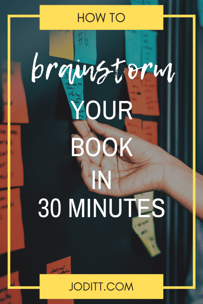 How to brainstorm your book in 30 minutes
