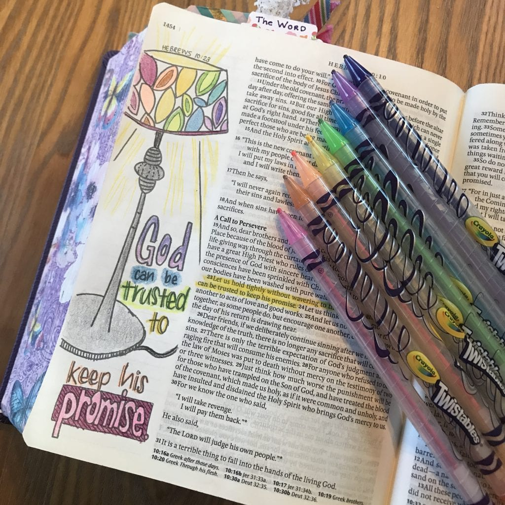 Easy Bible journaling page