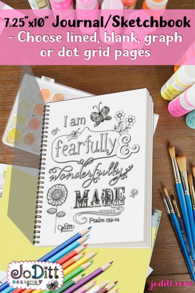 Fearfully and wonderfull made prayer journal by JoDitt Designs