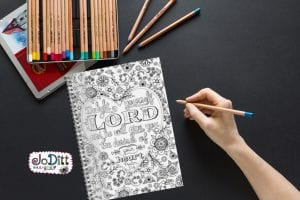 Delight in the Lord prayer journal by JoDitt Designs