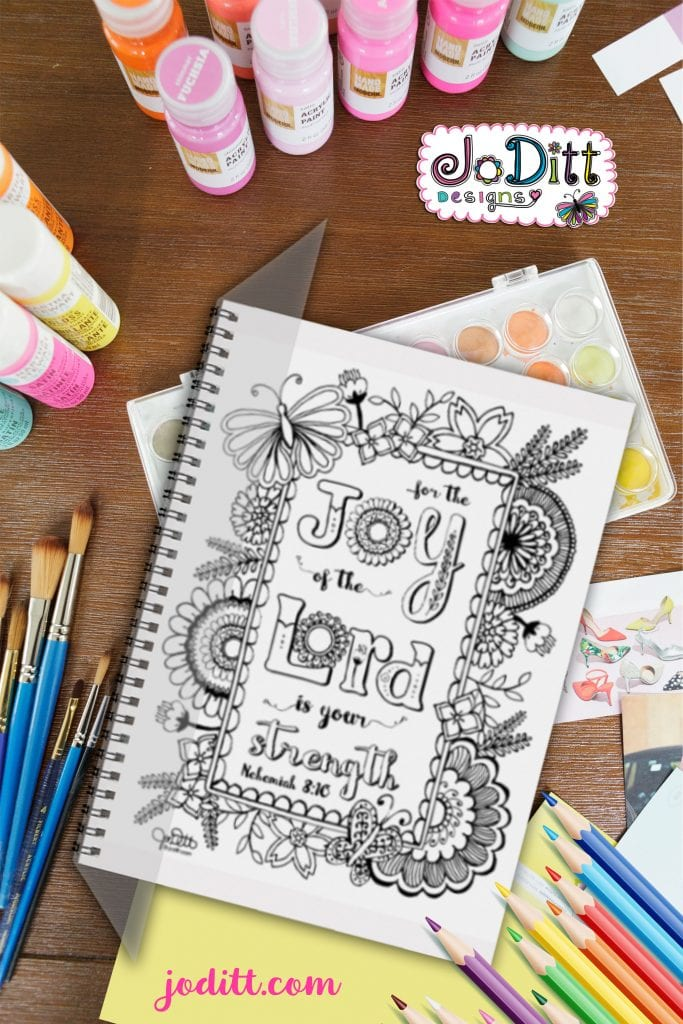 Joy of the Lord Prayer Journal by JoDitt Designs