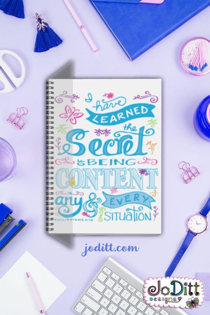 Gratitude journal by JoDitt Designs