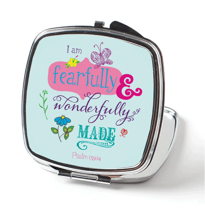 Fearfully and Wonderfully Made Pocket Mirror by JoDitt Designs