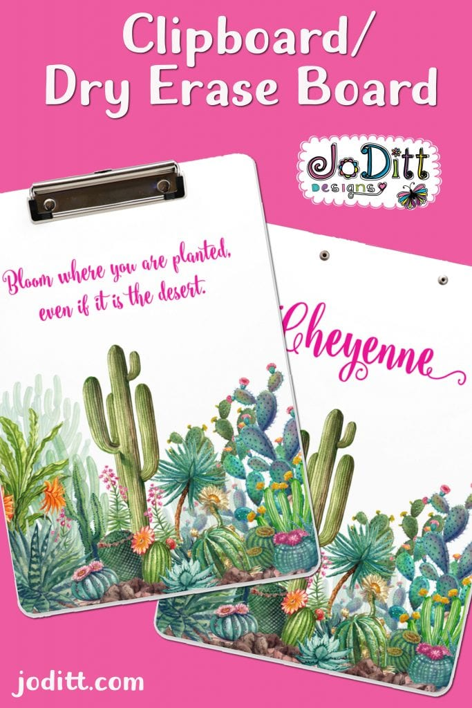 Bloom Where You Are Planted Clipboard by JoDitt Designs