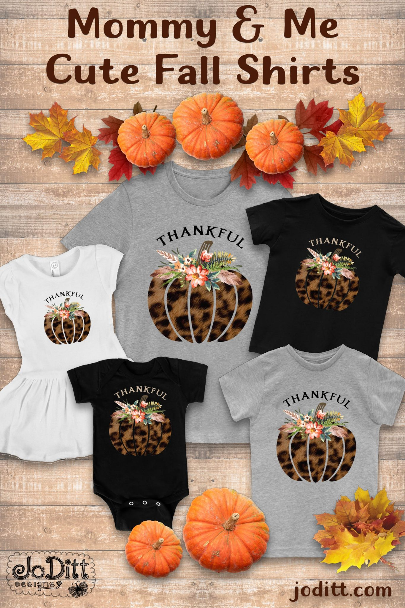 mommy-and-me-shirts-leopard-pumpkin