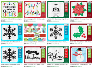 Christmas cut files and clipart