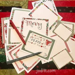 Christmas journal cards