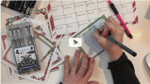 Christmas lettering video tutorial
