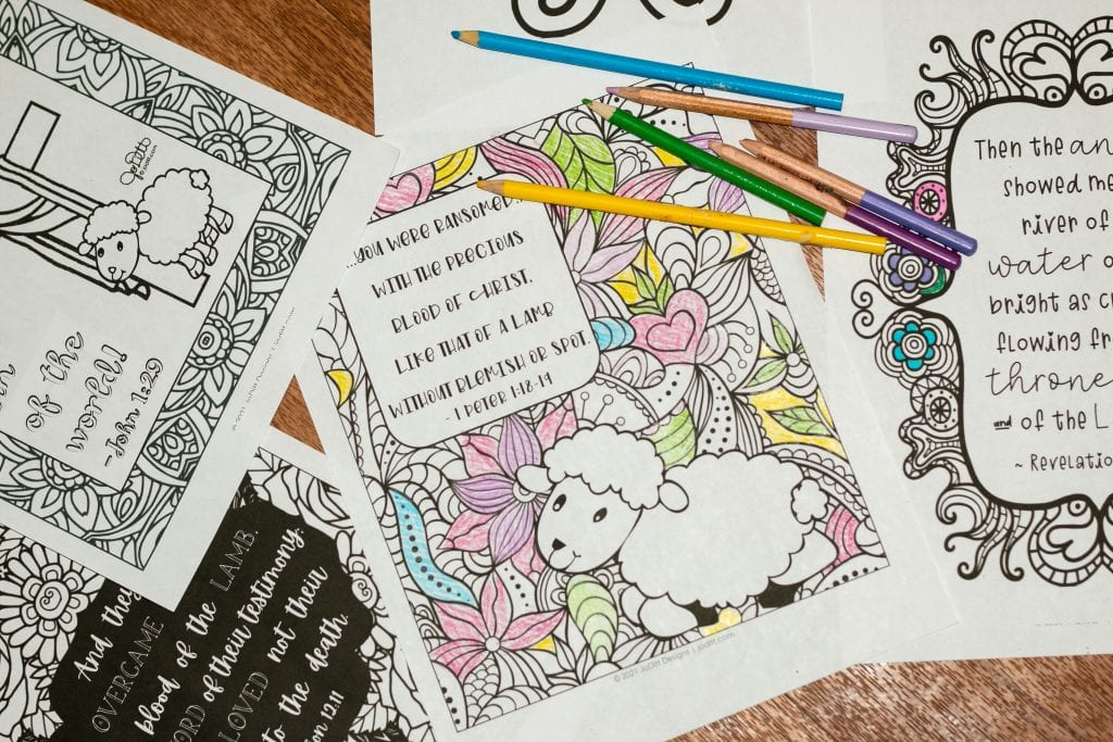 Easter Bible Reading plan coloring pages