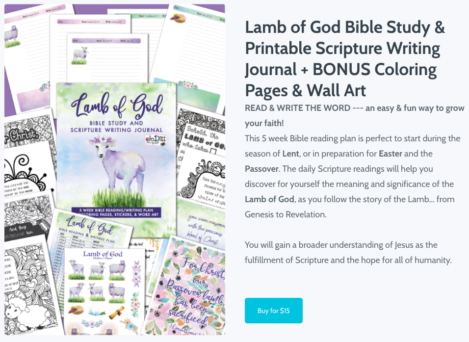 Lamb of God Scripture Writing Journal