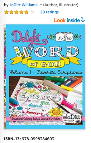 Delight in the Word Devotional Coloring Book, Volume 1: Favorite Scriptures