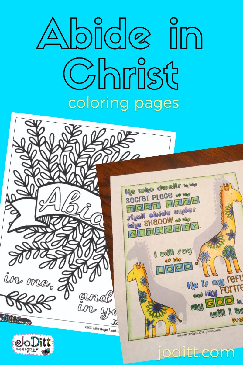 Abide in Christ coloring pages