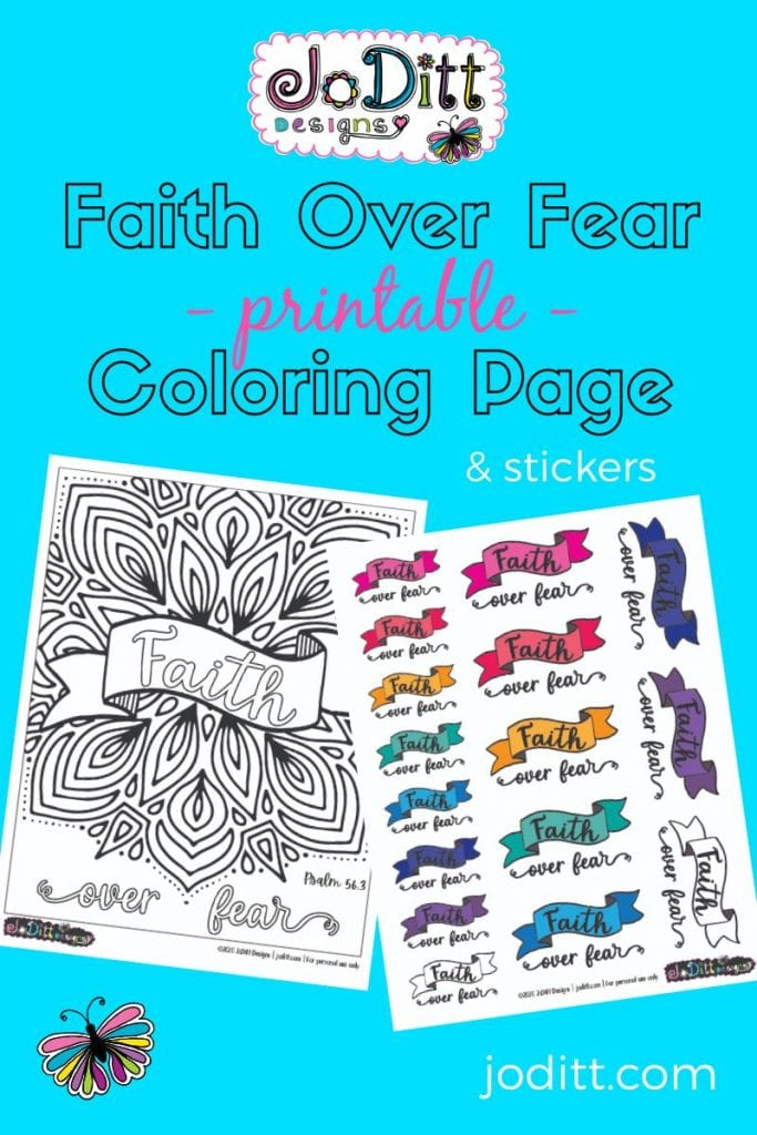 Faith Over Fear Printable Coloring Page