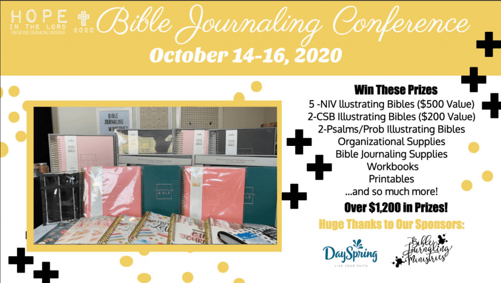 Prizes for Hope in the Lord Bible Journaling Conference