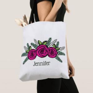 Easter basket idea tote bag for girls