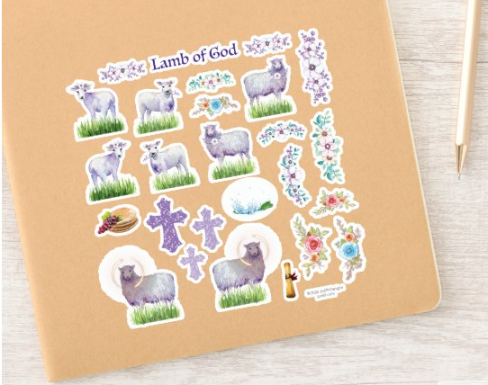 Lamb of God Easter Stickers