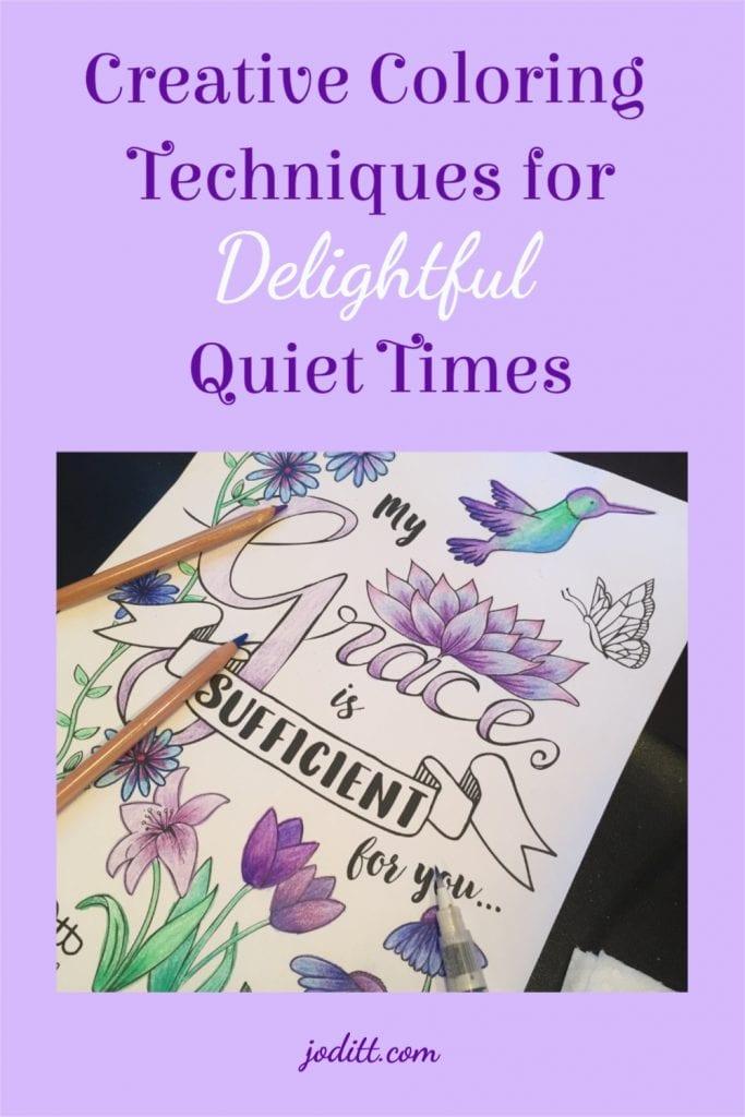 Creative Coloring Techniques for Delightful Quiet Times - Grace Edition