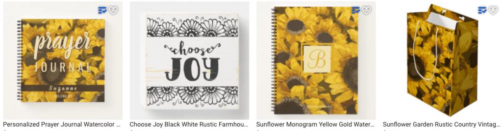 Cheerful Sunflower Gift Items